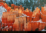 Bryce Canyon Hoodoos in Winter, Inspiration Point at Sunrise, Bryce Canyon National Park, Utah