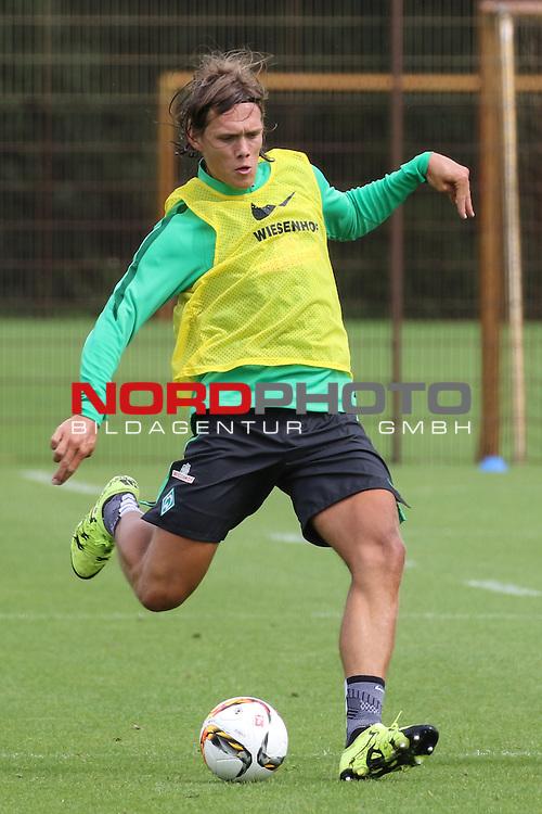 27.07.2015, Trainingsgelaende, Bremen, GER, 1.FBL, Training Werder Bremen , <br /> <br /> im Bild<br /> Jannik Vestergaard (Bremen #7)<br /> <br /> Foto &copy; nordphoto / Ewert