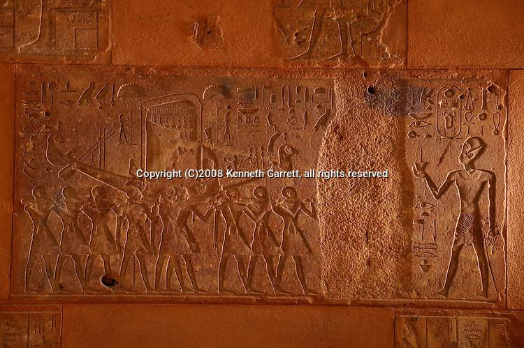 Hatshepsut Egypt, Karnak Temple, Red Chapel, Hatshepsut and Thutmosis III, together and with her erased
