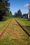 Railway line Qualicum beach, Vancouver Island, Canada