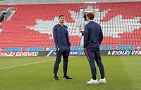 TORONTO, ON - OCTOBER 15: Matt Miazga #3 of the United States chats with his teammate during a game between Canada and USMNT at BMO Field on October 15, 2019 in Toronto, Canada.