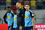 15.02.2020, Merkur Spiel-Arena, Duesseldorf, GER, 1. BL, Fortuna Duesseldorf vs. Borussia Moenchengladbach, DFL regulations prohibit any use of photographs as image sequences and/or quasi-video<br /> <br /> im Bild / picture shows: Schlussjubel / Schlußjubel / Emotion / Freude / die Mannschaft von Moenchengladbach<br /> <br /> Foto © nordphoto/Mauelshagen