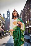 Mexico, Mexico City, Emiliano Zapata Street, Pedestrian Way, Jesus Christ Statue