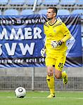 Waldhofs Markus Scholz (Nr.25) am Ball beim Spiel SV Waldhof Mannheim - TSV Steinbach.<br /> <br /> Foto © PIX-Sportfotos *** Foto ist honorarpflichtig! *** Auf Anfrage in hoeherer Qualitaet/Aufloesung. Belegexemplar erbeten. Veroeffentlichung ausschliesslich fuer journalistisch-publizistische Zwecke. For editorial use only.