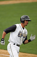 April 11, 2010: Gabe Jacobo of the Rancho Cucamonga Quakes during game against the Inland Empire 66'ers at The Epicenter in Rancho Cucamonga,CA.  Photo by Larry Goren/Four Seam Images