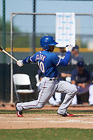 Texas Rangers LeDarious Clark (40) during an instructional league game against the San Diego Padres on October 9, 2015 at the Surprise Stadium Training Complex in Surprise, Arizona.  (Mike Janes/Four Seam Images)