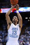 07 November 2014: North Carolina's J.P. Tokoto. The University of North Carolina Tar Heels played the Belmont Abbey College Crusaders in an NCAA Division I Men's basketball exhibition game at the Dean E. Smith Center in Chapel Hill, North Carolina. UNC won the game 112-34.