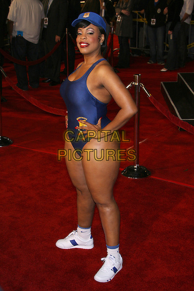 "NIECY NASH.""Reno 911: Miami"" Premiere presented by Twentieth Century Fox - Arrivals held at the Grauman's Chinese Theater, Hollywood, California, USA..February 15th, 2007.full length blue swimsuit bathing suit hands on hips hat cellulite .CAP/ADM/ZL.©Zach Lipp/AdMedia/Capital Pictures"