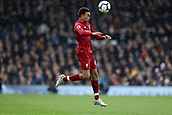 17th March 2019, Craven Cottage, London, England; EPL Premier League football, Fulham versus Liverpool; Trent Alexander-Arnold of Liverpool heads the ball forward