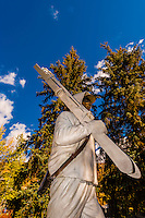 Statue of ski trooper from the Tenth Mountain Division, Vail, Colorado USA
