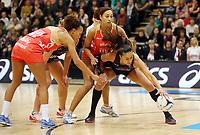 10.09.2017 Silver Ferns Maria Tutaia in action during the Taini Jamison Trophy match between the Silver Ferns and England at Pettigrew Green Arena in Napier. Mandatory Photo Credit ©Michael Bradley.