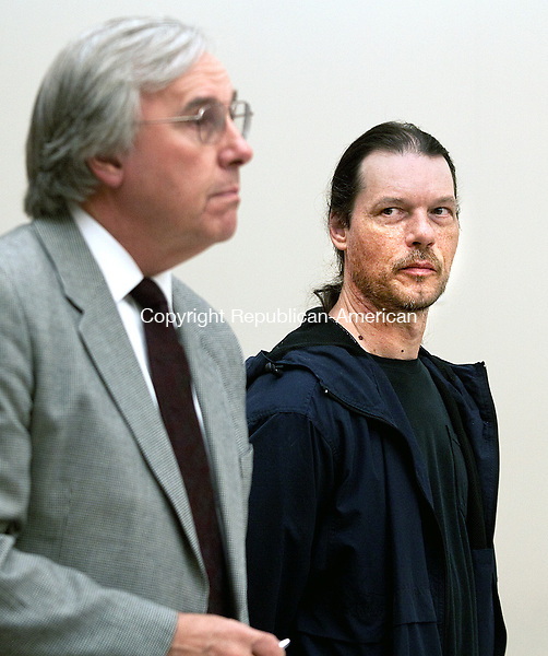 WATERBURY CT- DECEMBER 12  2012 -121212DA02- William Lampron, 43, of Naugatuck was arraigned at Waterbury Superior  on Wednesday. Lampron a former city employee was charged with trying to poison his former boss with oatmeal laced with SpeedyDry..Darlene Douty Republican American