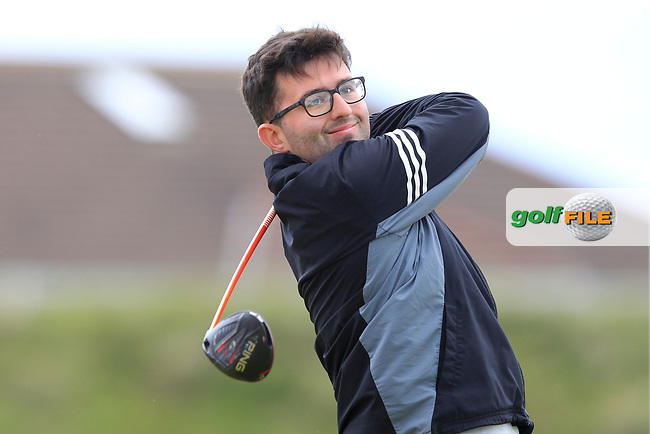 Callum Farr (Northamptonshire County) on the 5th tee during Round 1 of the The Amateur Championship 2019 at The Island Golf Club, Co. Dublin on Monday 17th June 2019.<br /> Picture:  Thos Caffrey / Golffile<br /> <br /> All photo usage must carry mandatory copyright credit (© Golffile   Thos Caffrey)