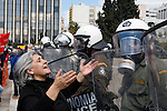 People demonstrate against economic measures in Athens