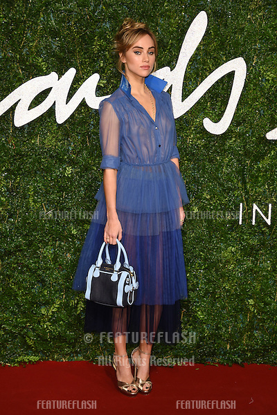 Suki Waterhouse arrives for British Fashion Awards 2014 at the London Coliseum, Covent Garden, London. 01/12/2014 Picture by: Steve Vas / Featureflash