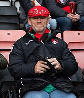 Bournemouth fan<br /> <br /> Photographer David Horton/CameraSport<br /> <br /> The Premier League - Bournemouth v Liverpool - Saturday 8th December 2018 - Vitality Stadium - Bournemouth<br /> <br /> World Copyright © 2018 CameraSport. All rights reserved. 43 Linden Ave. Countesthorpe. Leicester. England. LE8 5PG - Tel: +44 (0) 116 277 4147 - admin@camerasport.com - www.camerasport.com