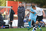 Visitng boss Jez George (third right) at the Gateshead International Stadium, the athletics stadium which is also the home ground of Gateshead FC, as the club play host to Cambridge United in a Blue Square Bet Premier division fixture. The match ended in a one-all draw, watched by a crowd of 904. The point meant Gateshead went to the top of the division, one below the Football League in England.