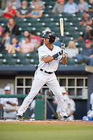 Northwest Arkansas Naturals outfielder Blake Perkins (44) awaits a pitch on May 16, 2019, at Arvest Ballpark in Springdale, Arkansas. (Jason Ivester/Four Seam Images)