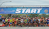 The Long Island Marathon gets underway as runners head west on Charles Lindbergh Boulevard in Uniondale on Sunday, May 6, 2018
