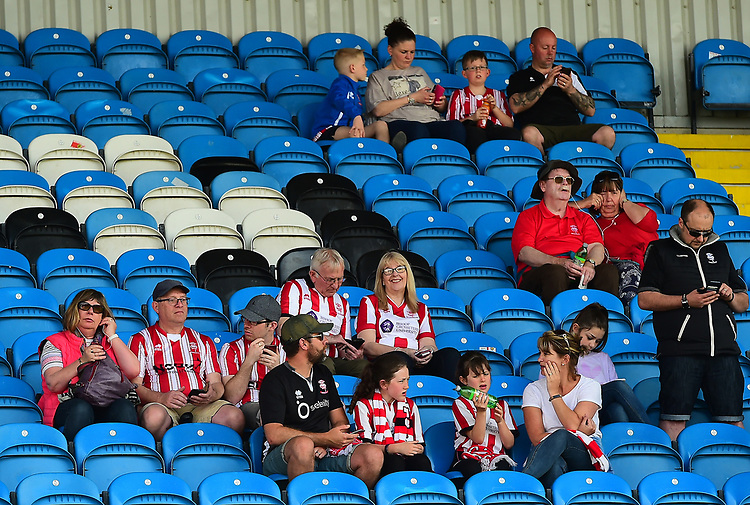 Lincoln City fans enjoy the pre-match atmosphere<br /> <br /> Photographer Chris Vaughan/CameraSport<br /> <br /> The EFL Sky Bet League Two - Carlisle United v Lincoln City - Friday 19th April 2019 - Brunton Park - Carlisle<br /> <br /> World Copyright © 2019 CameraSport. All rights reserved. 43 Linden Ave. Countesthorpe. Leicester. England. LE8 5PG - Tel: +44 (0) 116 277 4147 - admin@camerasport.com - www.camerasport.com