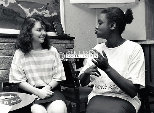 Deaf women signing, UK 1989