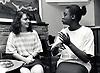 Deaf women signing, UK 1989