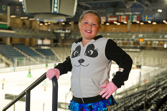 Sept. 18, 2013; Anna Tibbitts, Compton Family Ice Arena. Photo by Barbara Johnston/University of Notre Dame