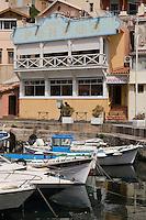 """Europe/France/Provence-Alpes-Côte d'Azur/13/Bouches-du-Rhône/Marseille:  restaurant """"Chez Fonfon"""" au Port du Vallon des Auffes"""