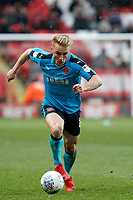 Kyle Dempsey of Fleetwood Town dribbling during the Sky Bet League 1 match between Charlton Athletic and Fleetwood Town at The Valley, London, England on 17 March 2018. Photo by Carlton Myrie.