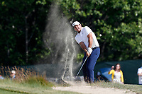 Patrick Reed (USA) hits his third shot out of a sand trap on the 12th hole during the 118th U.S. Open Championship at Shinnecock Hills Golf Club in Southampton, NY, USA. 17th June 2018.<br /> Picture: Golffile | Brian Spurlock<br /> <br /> <br /> All photo usage must carry mandatory copyright credit (&copy; Golffile | Brian Spurlock)