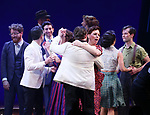 Beth Leavel and cast during the Broadway Opening Night Curtain Call Bows of 'Bandstand' at the Bernard B. Jacobs Theatre on 4/26/2017 in New York City.