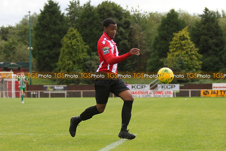 Theo Fairweather-Johnson of Hornchurch during AFC Hornchurch vs Soham Town Rangers, Bostik League Division 1 North Football at Hornchurch Stadium on 12th August 2017