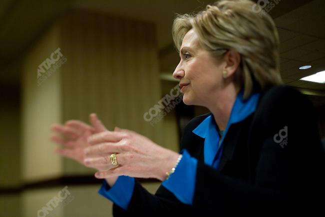 Presidential hopeful and U.S. Sen. Hillary Clinton (D-NY).