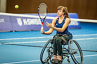 Alphen aan den Rijn, Netherlands, December 18, 2019, TV Nieuwe Sloot,  NK Tennis, Wheelchair doubles: Jinte Bos (NED)<br /> Photo: www.tennisimages.com/Henk Koster