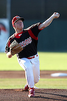 Batavia Muckdogs pitcher Jonathan Cornelius #26 delivers a pitch during a game against the Tri-City ValleyCats at Dwyer Stadium on July 15, 2011 in Batavia, New York.  Batavia defeated Tri-City 4-3.  (Mike Janes/Four Seam Images)