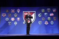 Philadelphia, PA - Thursday January 18, 2018: Major League Soccer Commissioner Don Garber. The 2018 MLS League Meetings were held at the Philadelphia Marriott Downtown.