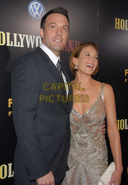 "BEN AFFLECK & DIANE LANE.The ""Hollywoodland"" Premiere held at The Academy of Arts and Science in Beverly Hills, California on .September 7th, 2006.Ref: DVS.half length silver dress grey gray suit jacket.www.capitalpictures.com.sales@capitalpictures.com.©Debbie VanStory/Capital Pictures"