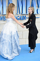 Lily James &amp; Amanda Seyfried arriving for the &quot;Mama Mia! Here We Go Again&quot; world premiere at the Eventim Apollo, Hammersmith, London, UK. <br /> 16 July  2018<br /> Picture: Steve Vas/Featureflash/SilverHub 0208 004 5359 sales@silverhubmedia.com