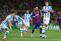 7th March 2020; Camp Nou, Barcelona, Catalonia, Spain; La Liga Football, Barcelona versus Real Sociedad;  Leo Messi lloks to find room for a shot in the box
