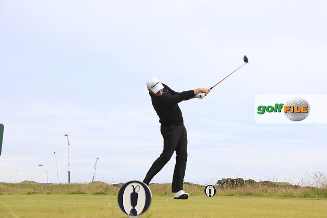 Jamie DONALDSON (WAL) tees off the 15th tee during Monday's Final Round of the 144th Open Championship, St Andrews Old Course, St Andrews, Fife, Scotland. 20/07/2015.<br /> Picture Eoin Clarke, www.golffile.ie