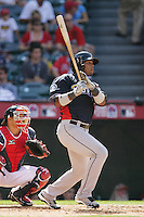 Carlos Peguero of the Seattle Mariners organization participates in the Futures Game at Angel Stadium in Anaheim,California on July 11, 2010. Photo by Larry Goren/Four Seam Images
