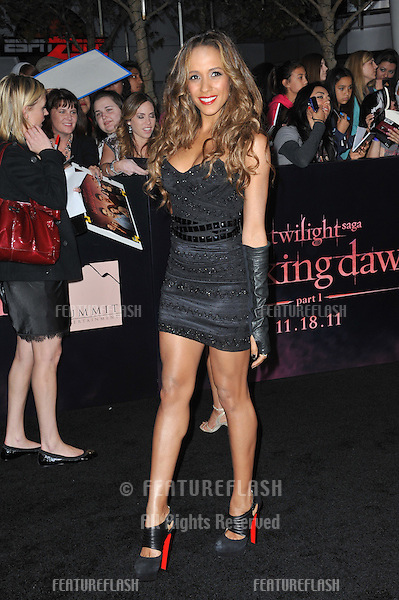 "Dania Ramirez at the world premiere of ""The Twilight Saga: Breaking Dawn - Part 1"" at the Nokia Theatre, L.A. Live in downtown Los Angeles..November 14, 2011  Los Angeles, CA.Picture: Paul Smith / Featureflash"