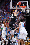 GLENDALE, AZ - APRIL 03: Zach Collins #32 of the Gonzaga Bulldogs dunks during the 2017 NCAA Men's Final Four National Championship game against the North Carolina Tar Heels at University of Phoenix Stadium on April 3, 2017 in Glendale, Arizona.  (Photo by Brett Wilhelm/NCAA Photos via Getty Images)