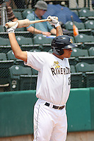 Charleston Riverdogs catcher Gary Sanchez #35 on deck during a game against the Delmarva Shorebirds at Joseph P. Riley Ballpark in Charleston, South Carolina on July 10, 2011. Charleston defeated Delmarva 2-0.   Robert Gurganus/Four Seam Images