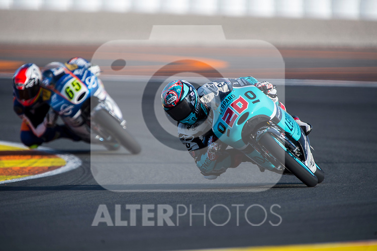 VALENCIA, SPAIN - NOVEMBER 11: Fabio Quartararo during Valencia MotoGP 2016 at Ricardo Tormo Circuit on November 11, 2016 in Valencia, Spain