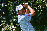 Jimmy Walker (USA) watches his tee shot on 2 during round 1 of the World Golf Championships, Mexico, Club De Golf Chapultepec, Mexico City, Mexico. 3/2/2017.<br /> Picture: Golffile | Ken Murray<br /> <br /> <br /> All photo usage must carry mandatory copyright credit (&copy; Golffile | Ken Murray)