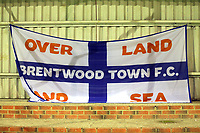 Brentwood Town flag during Romford vs Brentwood Town, Velocity Trophy Football at the Brentwood Centre on 8th October 2019
