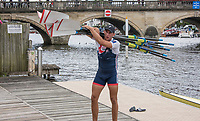 Henley-on-Thames. United Kingdom.  2017 Henley Royal Regatta, Henley Reach, River Thames. <br /> <br /> GBR Athlete. Pete LAMBERT. carrying blade into Leander Club.<br /> <br /> <br /> 12:59:36  Friday  30/06/2017<br /> <br /> [Mandatory Credit. Intersport Images].