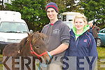 Muiris O'Connor and Aili?s Sullivan Ventry at the Kerry Bog Pony show in the Red Fox Inn, Glenbeigh on Saturday