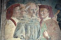 Italien, Toskana, Arezzo, San Francesco, Fresko von Spinello Aretino